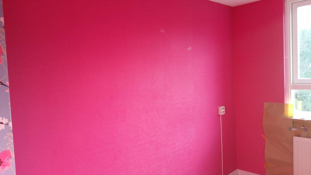 Behang Babykamer Utrecht : Latex spuiten roze vinyl behangen kinderkamer