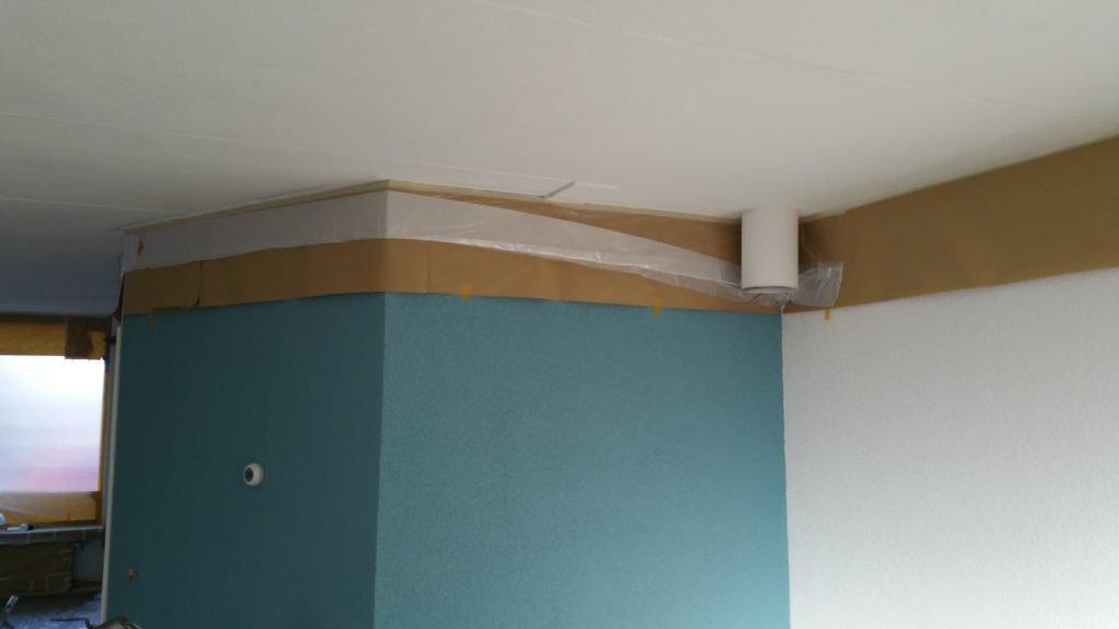 ... Ontwerp : Latex spuiten plafond en wanden in (kleur) woonkamer