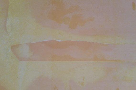 Scheuren egaal afwerken voor latex spuiten