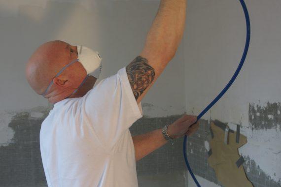 Airless spuiten plafond keuken