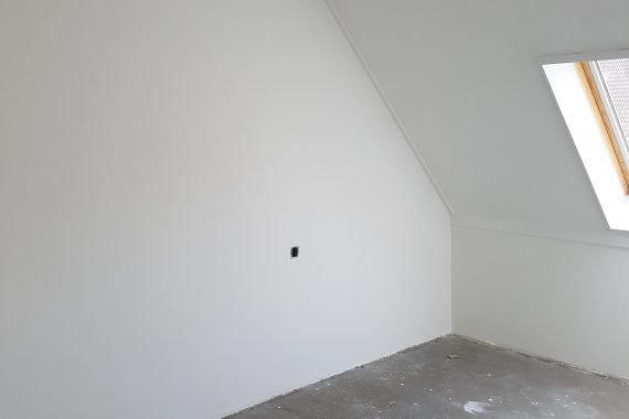 Eindresultaat latex spuiten slaapkamers