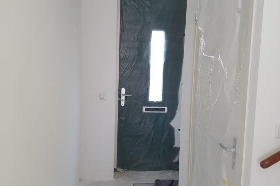 Latex spuitwerk nieuwbouw