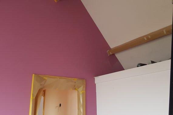 Wand slaapkamer voor latex spuiten
