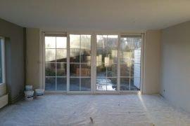 Latex spuiten wanden en plafonds in drie kleuren