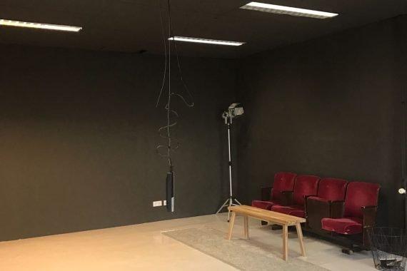 Eindresultaat latex spuiten studio Hilversum