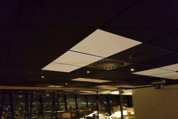 Plafond Euromast voor latex spuiten