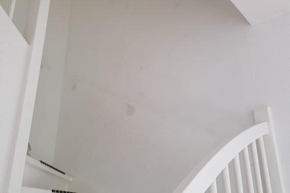Trappenhuis voor het spuiten van latex