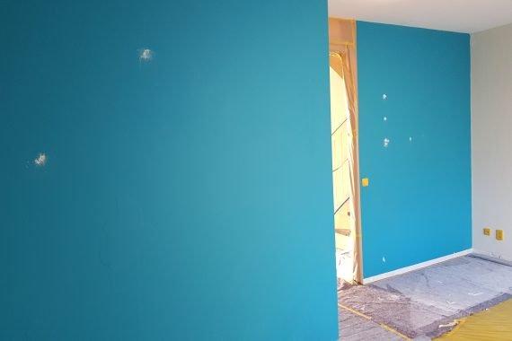 Wanden en plafonds voor het spuiten van latex
