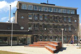 Latex spuiten RET remise bedrijfspand Rotterdam zuid