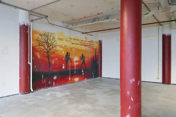 Wanden en plafonds voor het latex spuiten