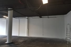 Zwarte Latex spuiten kantoorpand Bink36 Den Haag