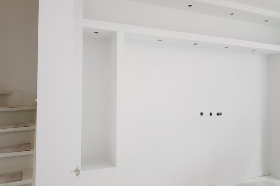 Latex gespoten nieuwbouw door Voordelig Latex Spuiten