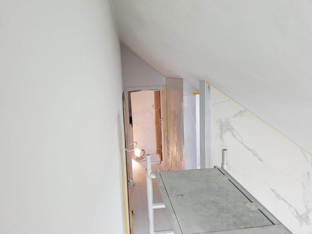 Latex Muurverf Badkamer : Latex spuiten van gerenoveerde woning door voordelig latex spuiten