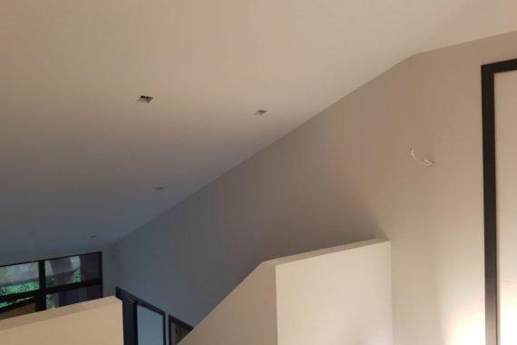 Latex gespoten wanden en plafonds