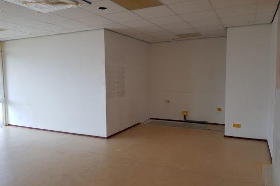 Muren en plafond voor het aanbrengen van latexspuitwerk