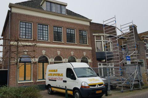 Latex spuiten gestucte plafonds 9 nieuwbouw appartementen