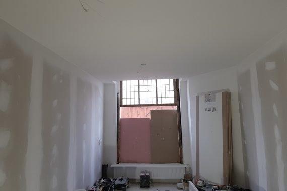 Latex gespoten gestucte plafonds