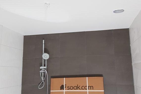 Latex spuitwerk plafonds badkamers