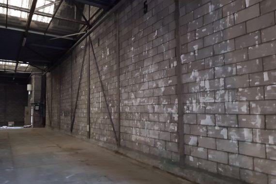 Wanden opslagloods voor latex spuitwerk door Voordelig Latex Spuiten