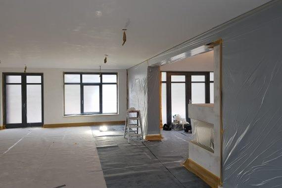 Nieuw gestucte wanden en plafonds voor het Airless latexspuiten
