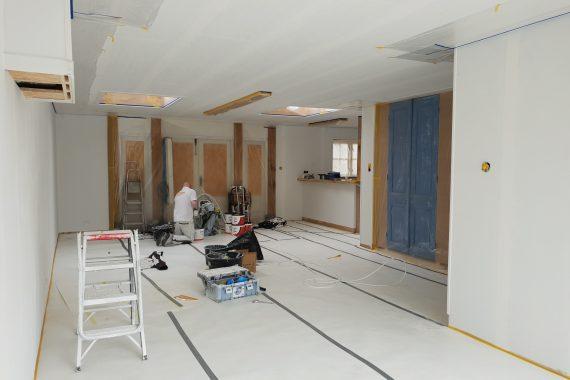 Wanden en plafonds voor latex spuiten