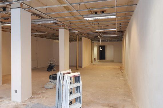 Bedrijfsruimte voor het latex spuiten