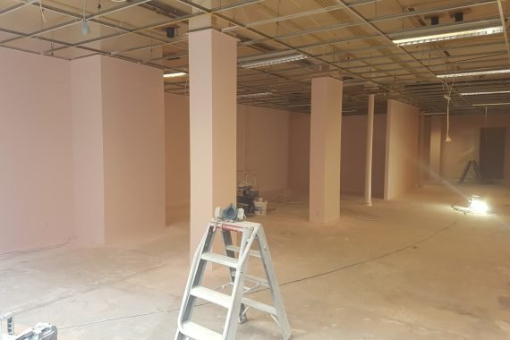 Bedrijfsruimte na het latex spuiten