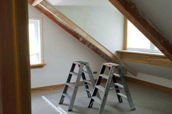 Kamer voor het latex spuiten van wand en plafond