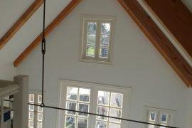 Latex spuitwerk wanden en plafonds gastenverblijf