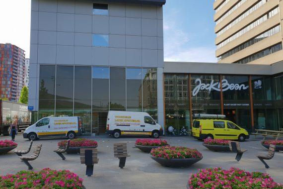 Latex spuitwerk voor Samsung store Weena Rotterdam