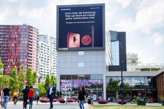 Latex Spuiten Samsung slow-mo experience store Weena Rotterdam