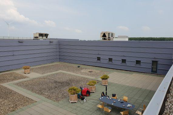 Damwand gevelbeplating voor het Airless aanbrengen van een coating door Voordeliglatexspuiten.nl
